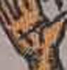 悪魔の手に土星のマーク