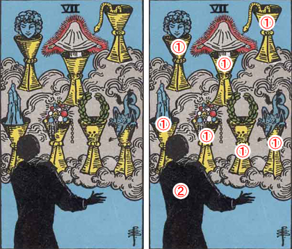 SEVEN of CUPS/カップの7
