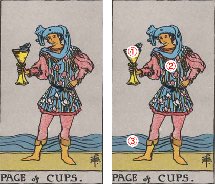 PAGE of CUPS/カップのペイジ
