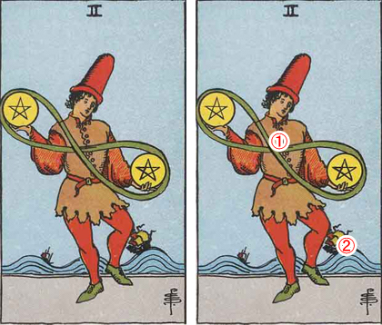 TWO of PENTACLES/ペンタクルの2
