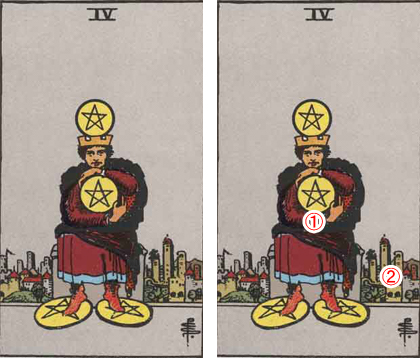 FOUR of PENTACLES/ペンタクルの4